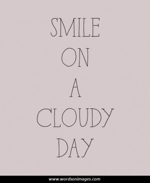 Cloudy day quotes