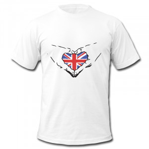 Men 100% Cotton Tees Hands And Heart Union Jack fun Business quotes ...
