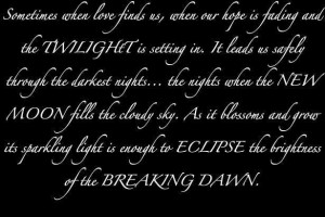 Twilight Series Twilight quote's