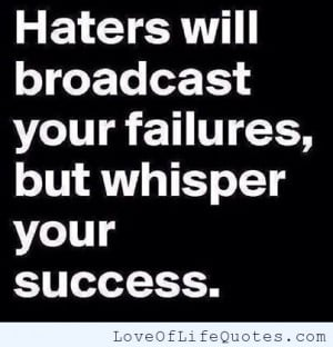 related posts haters fact on haters dear haters success and failure ...