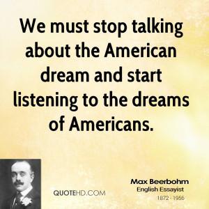 Max Beerbohm Dreams Quotes