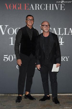 Stefano Gabbana et Domenico Dolce à Milan. Le 21 septembre 2014.