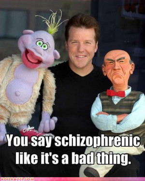 Jeff Dunham.. Peanut: He will never blink. like its a hall thing.. the ...