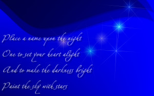 Paint The Sky With Stars - Enya Song Lyric Quote in Text Image