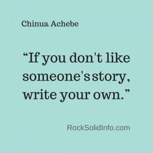 Chinua Achebe - Quotes