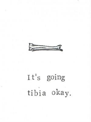 Image of Funny Skeleton Anatomy Greeting Card - Tibia