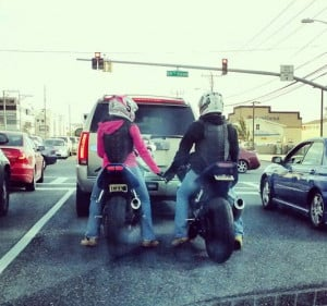 Motorcycle - sportbike - rider - quote ride together stay together