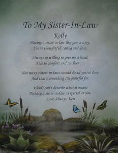 Short Sister in Law Quotes | To a Sister In Law Lost, Sister Death ...