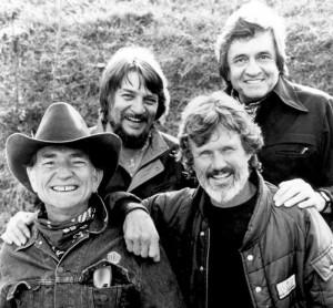 "... "" with Waylon Jennings, Johnny Cash and Kris Kristofferson"