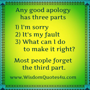 Some people forget the whole concept of an apology and never recognize ...