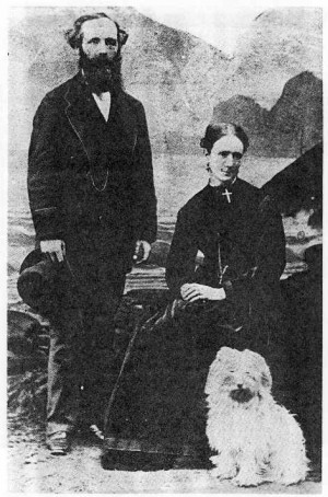 Figure 5: Maxwell and his wife, Katherine, 1869.