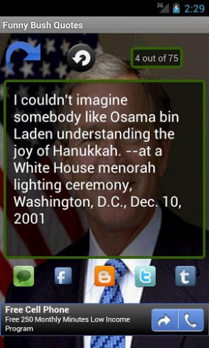 View bigger - Funny Bush Quotes for Android screenshot