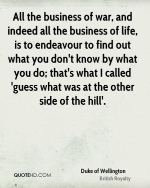 Duke of Wellington War Quotes