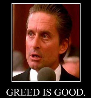 Gordon Gekko Greed Is Good Quote Famous people (and characters)