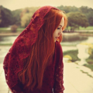 beautiful, ginger, girl, red hair