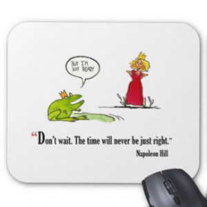 Exam motivational quote by Napoleon Hill - Mouse Pad