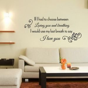 ... Love You DIY Removable Vinyl Quote Wall Sticker Decal Art Home Decor