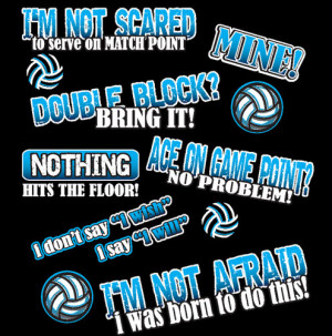 Fearless Volleyball Player Sayings Long Sleeve Black Volleyball Shirts