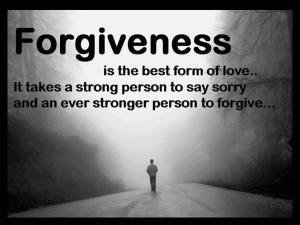 ... strong person to day sorry and an even stronger person to forgive