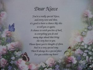 DEAR NIECE PERSONALIZED POEM