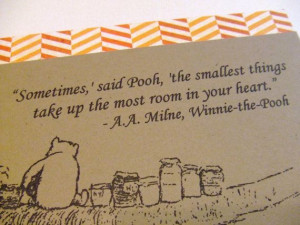 ... Things - Winnie the Pooh Quote - Classic Pooh and Honey Note Card