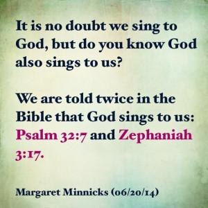 God sings