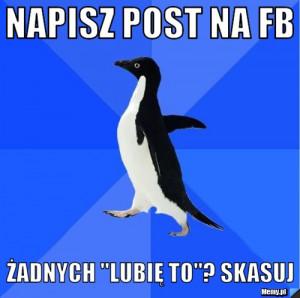 NAPISZ POST NA FB ŻADNYCH \