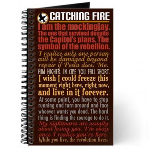 ... catching fire journals spiral notebooks catching fire quotes journal