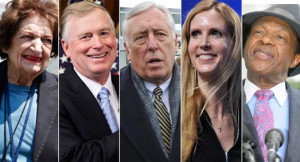 Helen Thomas, Dan Quayle, Steny Hoyer, Ann Coulter and Marion Barry ...