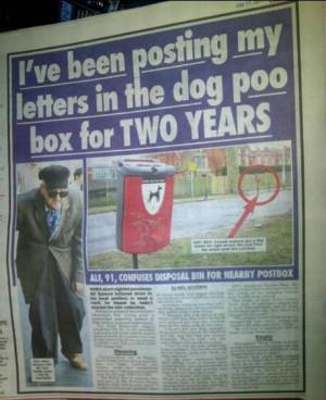 Funny photos funny old man dog poo