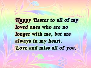 Happy Easter Loved Ones Heaven