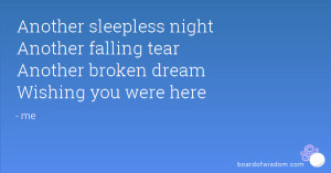 Sleepless Nights Quotes Another sleepless night