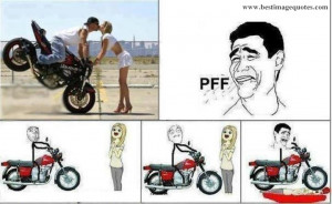 Funny Troll - Kissing Stunt On Bike :D
