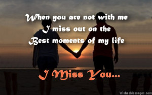 miss you messages for wife: Missing you messages for her