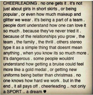 Cheerleading is a sportt.