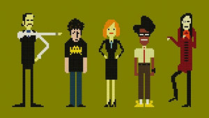 the it crowd cross stitch chart pattern with denholm and richmond $ 6 ...