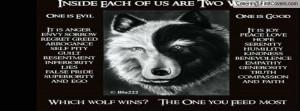 Black and White Anime Wolves