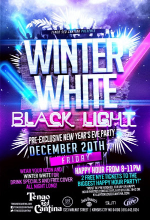Black Light Party Flyer