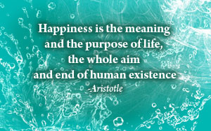Happiness Is The Meaning And The Purpose Of Life, The Whole Aim