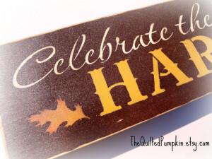 Celebrate the Blessings Harvest Stenciled Shelf Sign, Mantle ...