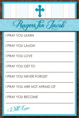 Jacob's Baptism: Prayer Cards