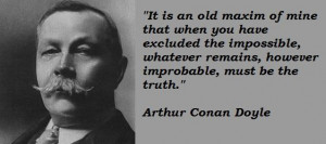 Arthur Conan Doyle Quotes with Pictures