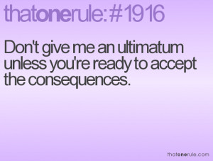 An Ounce of Prevention: 'Why Ultimatums Don't Work in Relationships'