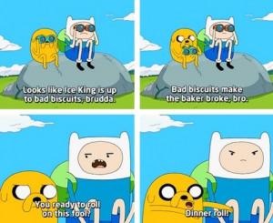 Finn & Jake Ready To Dinner Roll On The Ice King On Adventure Time ...