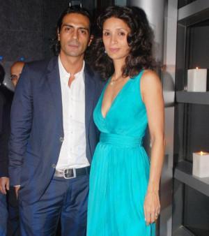 Arjun Rampal with His Wife