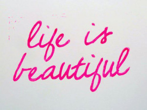 cute, life, pink, quote, text