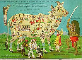 This picture shows a pamphlet against traditional cow sacrifice in ...