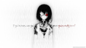 Emo Black Hair Eyepatch Anime Girl Misaki Mei In Rain Quotes ...