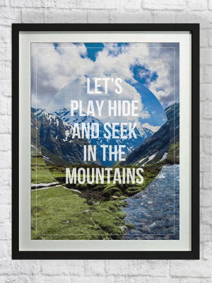 Hiking Quote Typography Art Poster, Mountains Printable, Digital ...