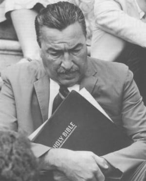 Adam Clayton Powell, Jr. at an anti-Vietnam war demonstration in 1969 ...